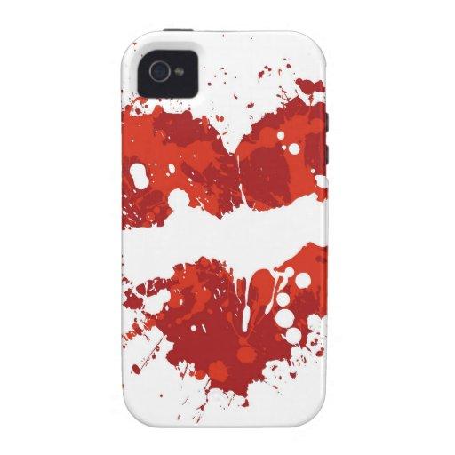 chapoteo del corazón del amor Case-Mate iPhone 4 funda