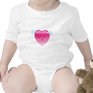 Chapoteo del corazón traje de bebé