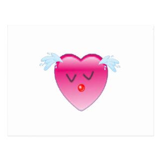 Chapoteo del corazón tarjeta postal
