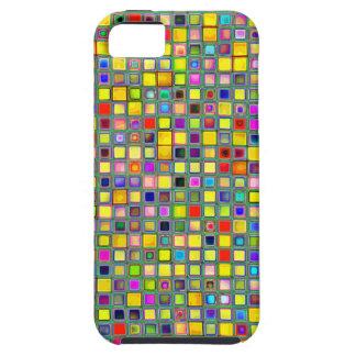 Chapoteo del modelo multicolor amarillo de la teja iPhone 5 cárcasas
