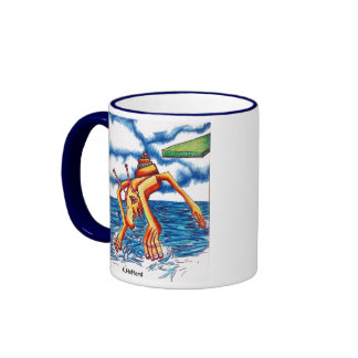 Chapoteo del monstruo tazas de café