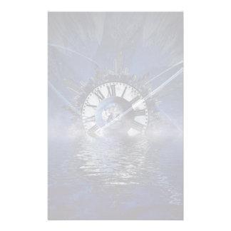 Chapoteo del tiempo de la ciencia ficción papelería de diseño
