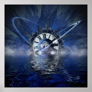 Chapoteo del tiempo de la ciencia ficción póster