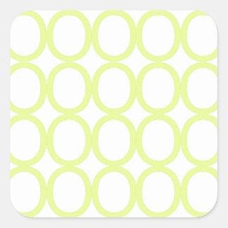 Chapoteo del verde lima y blanco de los o pegatina cuadrada