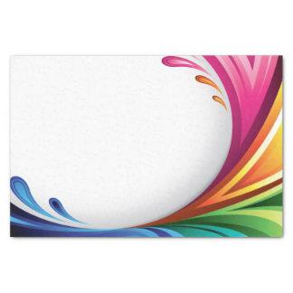 Chapoteo elegante del arco iris que remolina - papel de seda