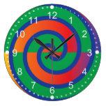Chapoteo enrrollado del color del modelo de los re reloj