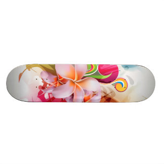 Chapoteo floral colorido patín
