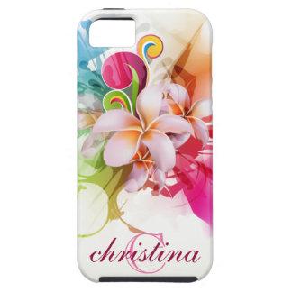 Chapoteo hawaiano de la flor del compañero del cas iPhone 5 fundas