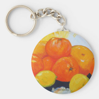 Chapoteo II de la fruta cítrica Llavero Redondo Tipo Pin