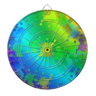 Chapoteo metálico multicolor y colorido del color