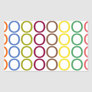 Chapoteo mezclado arco iris de los o pegatina rectangular