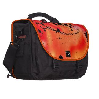chapoteo negro del color, rojo bolsa para ordenador