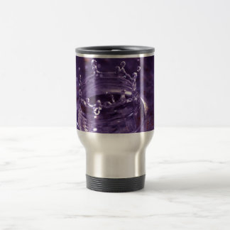 Chapoteo púrpura del agua taza de viaje