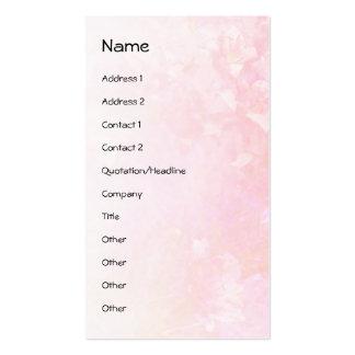 Chapoteo rosado del lirio tarjetas de visita
