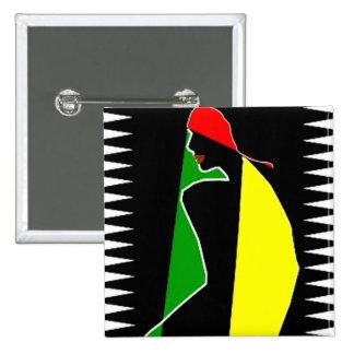 Chapoteo tribal africano del color pin
