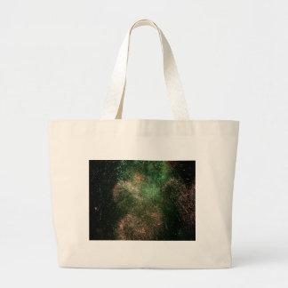 chapoteo verde de la explosión de los fuegos artif bolsa tela grande