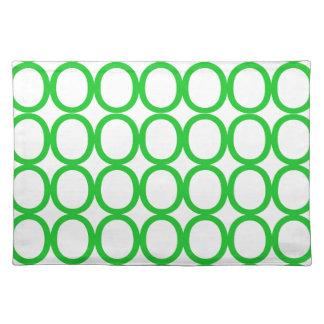 Chapoteo verde y blanco de los o mantel individual