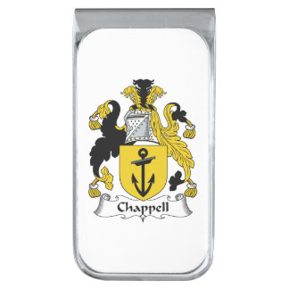 Chappell Family Crest Silver Finish Money Clip