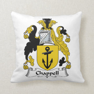 Chappell Family Crest Throw Pillow