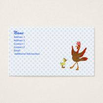 Chappy & Chippy chicken Business Card