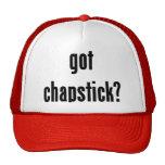 ¿chapstick conseguido? gorras