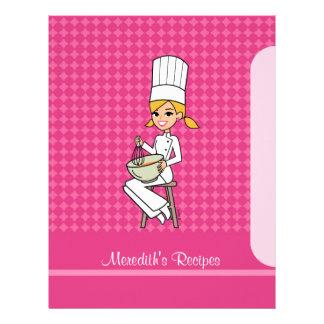 Chapter Divider for Recipe Binders Kitchen Art Letterhead
