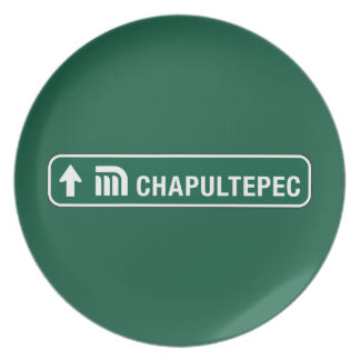 Chapultepec, Traffic Sign, Mexico Party Plates