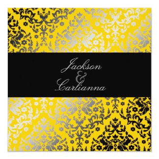"""chaqueta amarilla del damasco 311-Dazzling Invitación 5.25"""" X 5.25"""""""