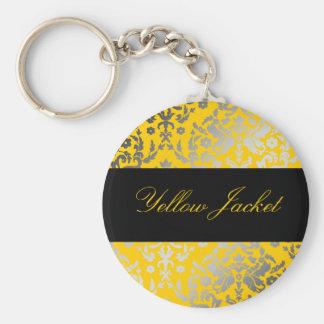 chaqueta amarilla del damasco 311-Dazzling Llavero Redondo Tipo Pin