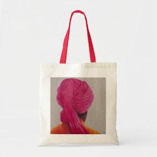 Chaqueta anaranjada 2014 del turbante rosado bolsa tela barata