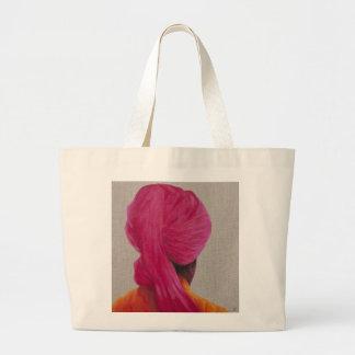 Chaqueta anaranjada 2014 del turbante rosado bolsa tela grande