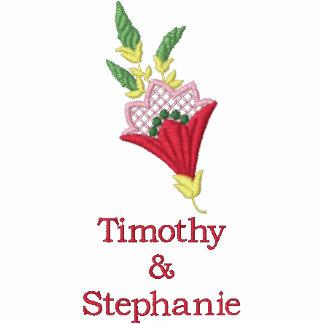 Chaqueta bordada boda floral personalizada