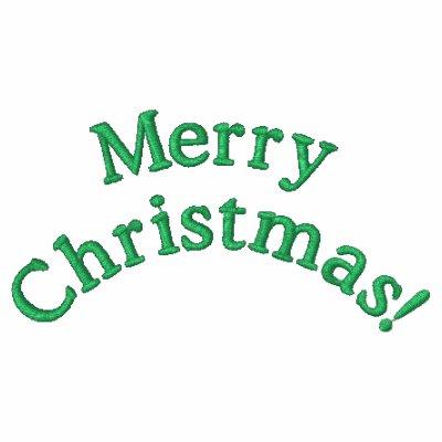 Chaqueta bordada de las Felices Navidad