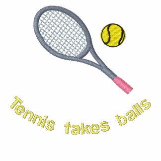 Chaqueta bordada del tenis