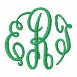 Chaqueta bordada escritura verde del monograma de