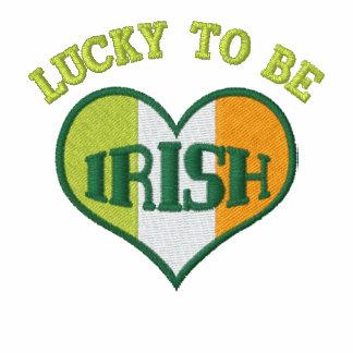 Chaqueta bordada irlandés afortunado del día de St