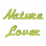 Chaqueta con capucha bordada del amante de natural