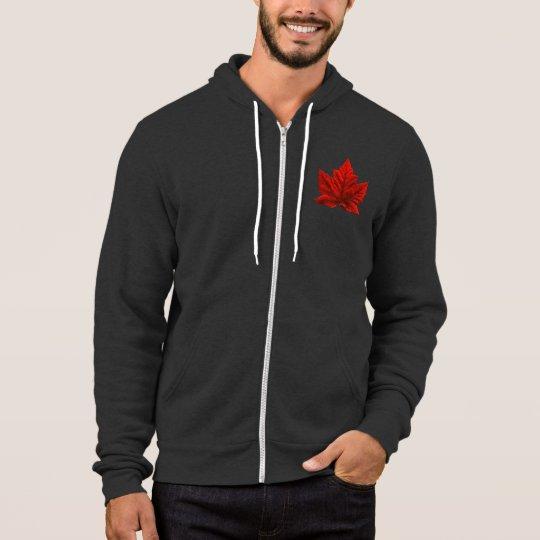 Chaqueta con capucha de la bandera de Canadá de la