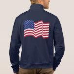 Chaqueta de la bandera americana que agita