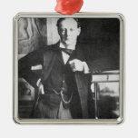 Chaqueta de punto Churchill de Winston en 1904 Adorno Navideño Cuadrado De Metal