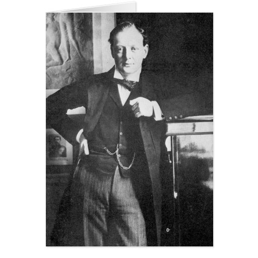Chaqueta de punto Churchill de Winston en 1904 Tarjeta De Felicitación
