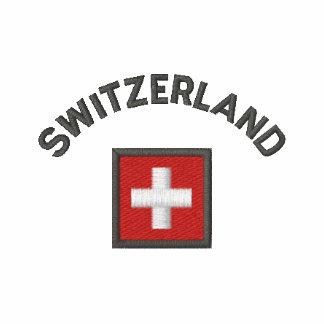 Chaqueta de Suiza con la bandera suiza del