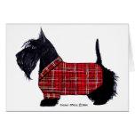 Chaqueta del día de fiesta del escocés tarjeta de felicitación