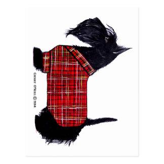 Chaqueta del día de fiesta del escocés postales