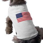 Chaqueta del perro de la bandera de los E.E.U.U. Playera Sin Mangas Para Perro