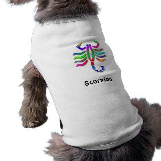 Chaqueta del perro del arco iris de la muestra de  playera sin mangas para perro