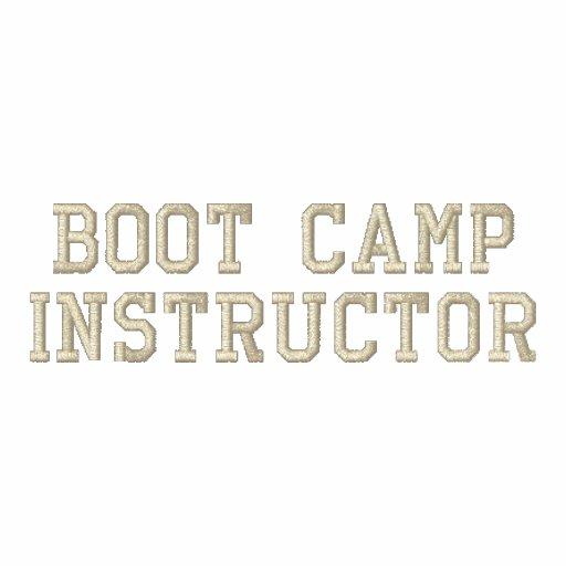 Chaqueta personalizada del instructor de Boot Camp