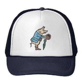 Chaqueta que lleva del cerdo del vintage gorras de camionero