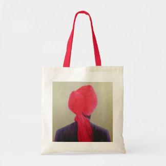 Chaqueta roja de la púrpura del turbante bolsa tela barata