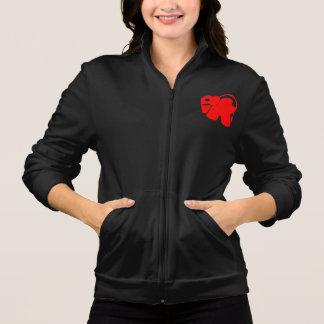 Chaqueta roja del elefante del logotipo